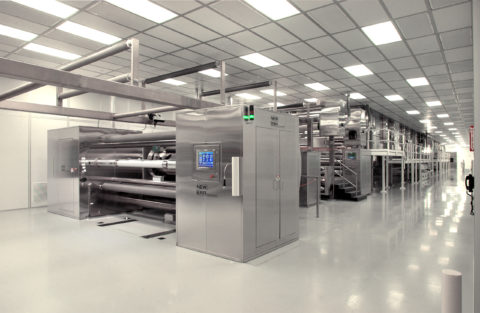 Cleanroom Coating, Laminating and Embossing Line