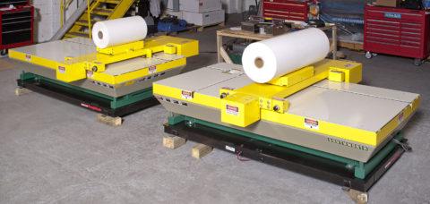 Turret Winder Roll Unloading Cart