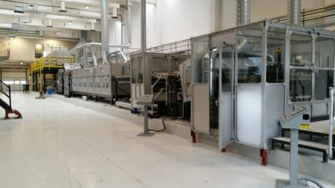 Water Filtration Media Coating and Casting Line
