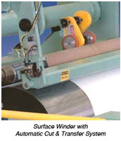 Surface Winder with Automatic Cut and Transfer System